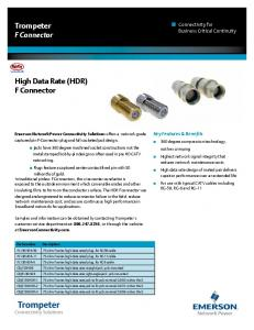 Trompeter F Connector High Data Rate (HDR) F Connector - Digikey