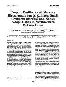 Trophic Positions and Mercury Bioaccumulation in ... - Springer Link