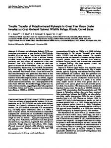 Trophic Transfer of Polychlorinated Biphenyls in Great ... - Springer Link