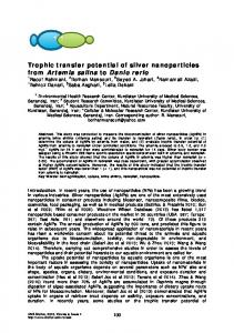 Trophic transfer potential of silver nanoparticles from Artemia ... - Bioflux