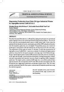 TROPICAL AGRICULTURAL SCIENCE ... - Pertanika Journal