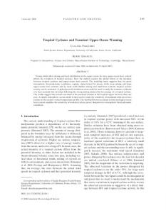 Tropical Cyclones and Transient Upper-Ocean Warming