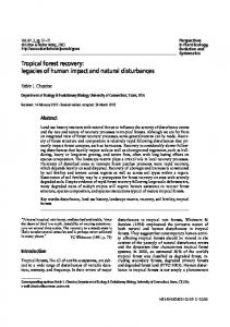 Tropical forest recovery - Dendrome