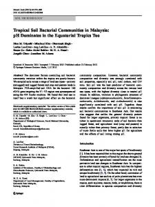 Tropical Soil Bacterial Communities in Malaysia: pH ...