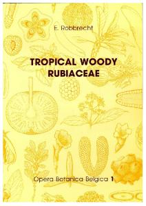 Tropical woody Rubiaceae Characteristic features