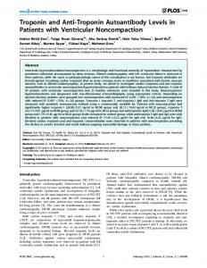 Troponin and Anti-Troponin Autoantibody Levels in Patients with ...