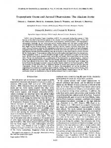 Tropospheric ozone and aerosol observations ... - Wiley Online Library
