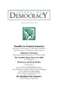 Trouble in Central America - Journal of Democracy