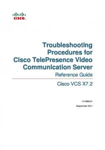Troubleshooting procedures for Cisco TelePresence Video ...