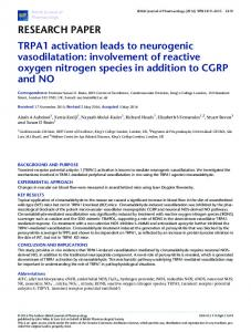 TRPA1 activation leads to neurogenic ... - Wiley Online Library