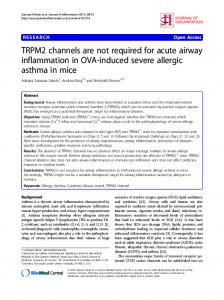 TRPM2 channels are not required for acute airway ... - BioMedSearch