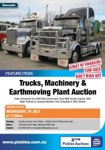 Trucks, Machinery & Earthmoving Plant Auction - Pickles Auctions