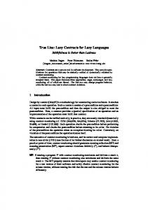 True Lies: Lazy Contracts for Lazy Languages