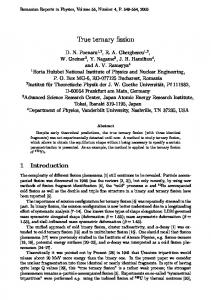 True ternary fission - Romanian Reports in Physics