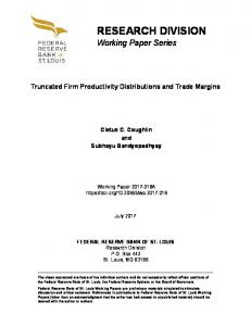 Truncated Firm Productivity Distributions and Trade Margins