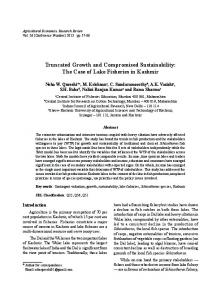Truncated Growth and Compromised Sustainability ... - AgEcon Search