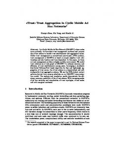 Trust Aggregation in Cyclic Mobile Ad Hoc Networks - Semantic Scholar