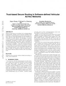 Trust-based Secure Routing in Software-defined Vehicular Ad Hoc