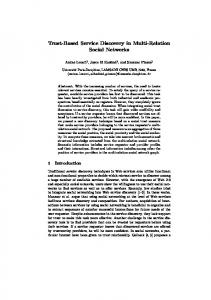 Trust-Based Service Discovery in Multi-Relation Social Networks