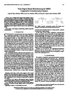 Trust Degree Based Beamforming for MISO Cooperative ... - IEEE Xplore