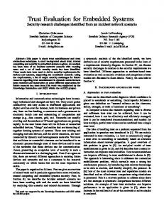 Trust Evaluation for Embedded Systems - Semantic Scholar