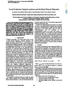 Trust Prediction Using Z-numbers and Artificial Neural ... - IEEE Xplore