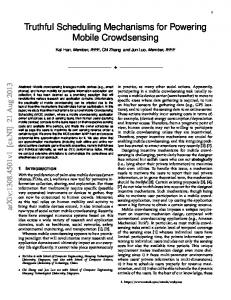 Truthful Scheduling Mechanisms for Powering Mobile ... - arXiv