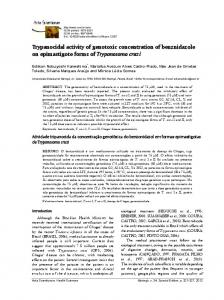 Trypanocidal activity of genotoxic concentration of