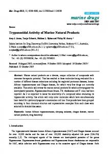 Trypanocidal Activity of Marine Natural Products - MDPI
