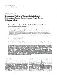 Trypanocidal Activity of Thioamide-Substituted Imidazoquinolinone
