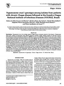 Trypanosoma cruzi I genotype among isolates from patients with ...