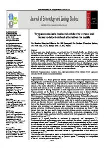 Trypanosomiasis induced oxidative stress and hemato-biochemical