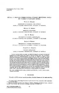 Tscale: A new multidimensional scaling procedure ... - Springer Link