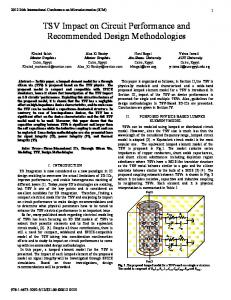 TSV Impact on Circuit Performance and Recommended ... - IEEE Xplore