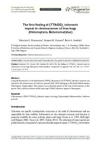 (TTAGG) telomeric repeat in chromosomes of true ... - BioMedSearch