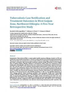Tuberculosis Case Notification and Treatment Outcomes in West ...