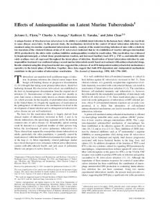 Tuberculosis Effects of Aminoguanidine on Latent Murine