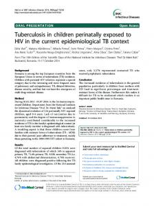 Tuberculosis in children perinatally exposed to HIV in ...