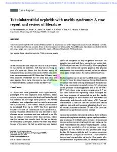 Tubulointerstitial nephritis with uveitis syndrome: A case report and