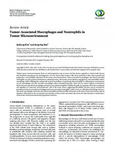 Tumor-Associated Macrophages and Neutrophils in Tumor ...