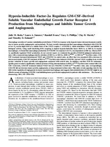 Tumor Growth and Angiogenesis Production from Macrophages and ...
