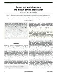 Tumor microenvironment and breast cancer progression