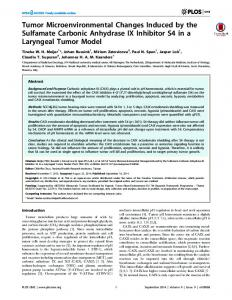 Tumor Microenvironmental Changes Induced by