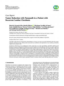 Tumor Reduction with Pazopanib in a Patient with Recurrent Lumbar ...
