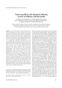 Tumor-specificity and Apoptosis-inducing Activity of Stilbenes and ...