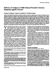 Tumors Protective Immune Responses against Delivery of Antigen to ...