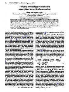 Tunable and selective resonant absorption in ... - OSA Publishing