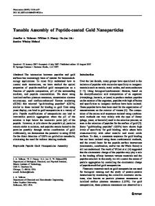 Tunable Assembly of Peptide-coated Gold Nanoparticles - Springer Link