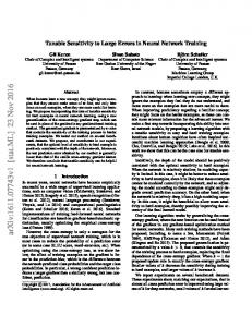 Tunable Sensitivity to Large Errors in Neural Network Training - arXiv