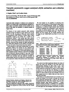 Tuneable asymmetric copper-catalysed allylic amination and oxidation